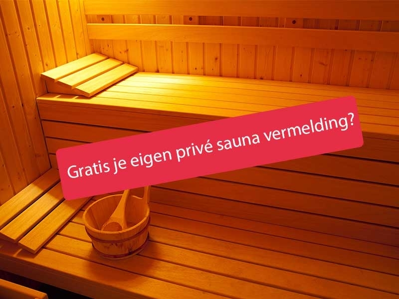Privé sauna vermelding