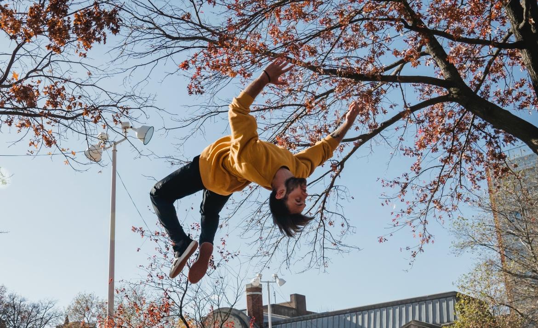 adrenaline, springen, man, sport