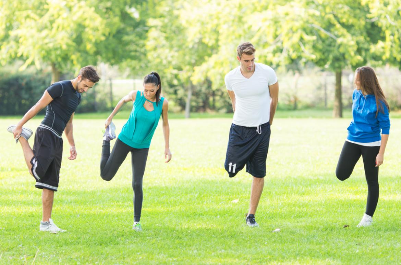 Bewegen, sporten, buiten sporten, personal training, team