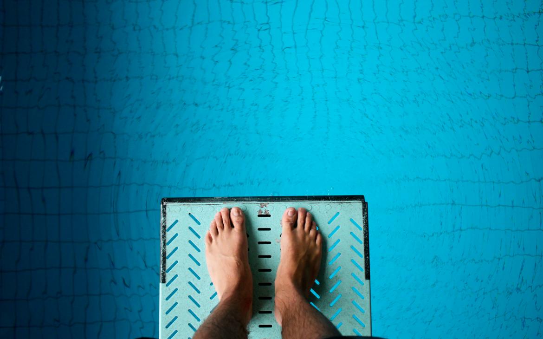 Duikplank, water, in het water springen, duiken