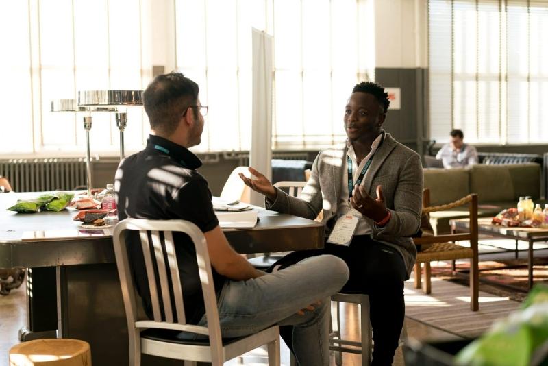 gesprek, conversatie, mannen