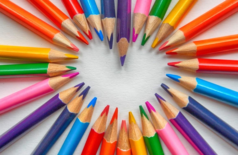 hart, liefde, aan het hart, potloden, zinvol leven