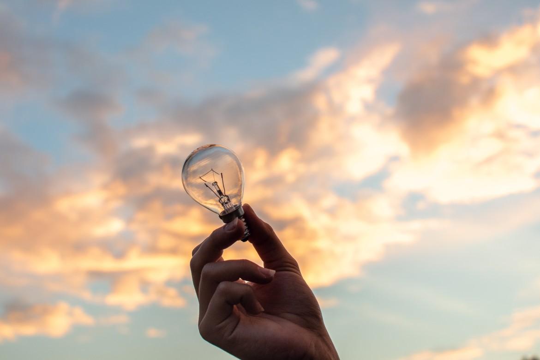 idee, lamp, licht, lucht, bewustwording, bewustzijn