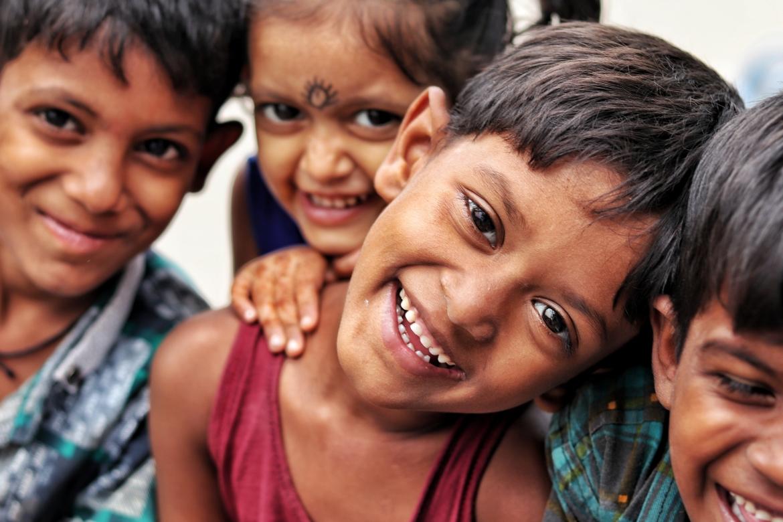 kinderen, blij, glimlach, plezier, gelukkig, spelen