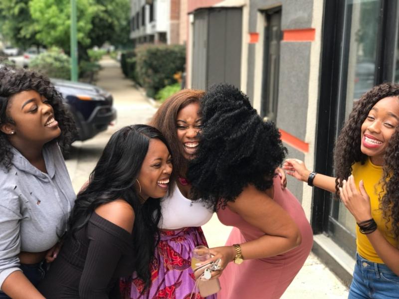 lachen, vriendinnen, plezier, humor