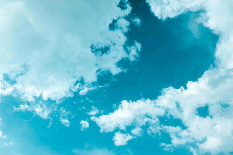 lucht, wolken, hemel, blauw