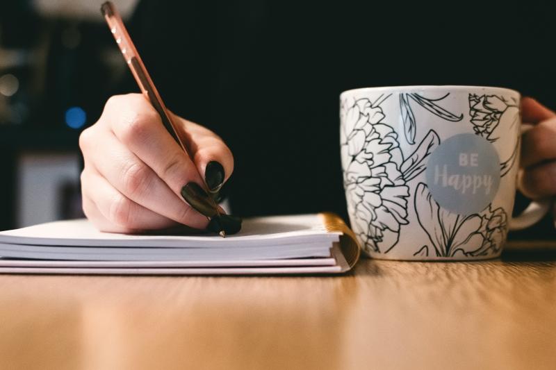 schrijven, notitieboek, affirmaties