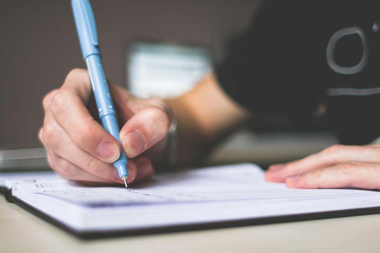 schrijven, pen, papier, lijst, lijst maken