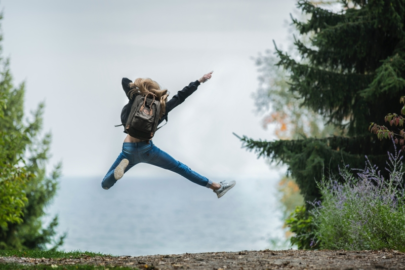 springen, sprong, plezier, lef