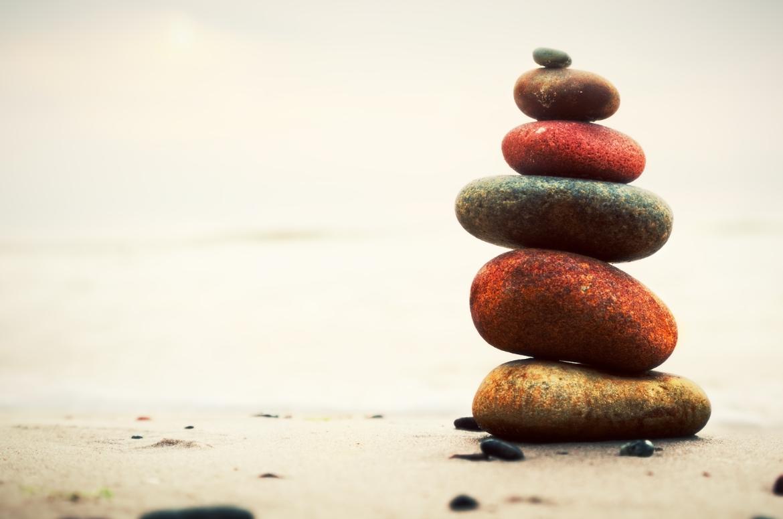 stenen, strand, rocks, mindfulness