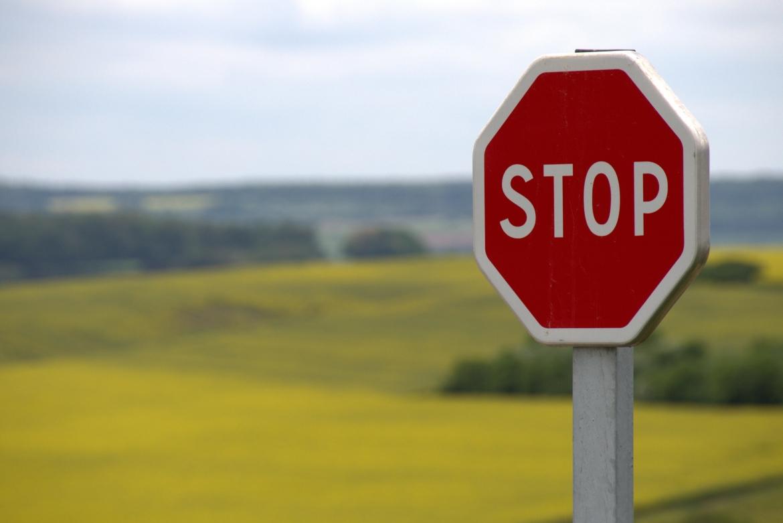 stop, niet verder, begrenzen, grens