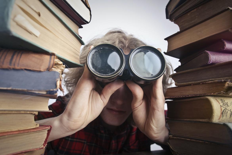 verrekijker, zoeken, vinden, boeken