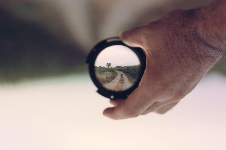 verrekijker, zoeken zoektocht, vision quest, weg, pad