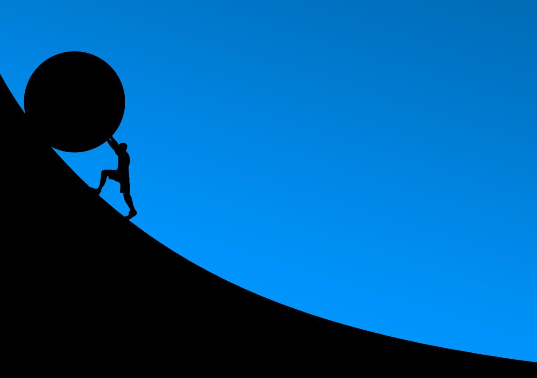 weerstand, bal, berg, moeilijke taak