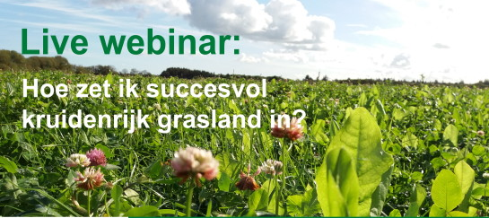 Live Webinar; Hoe zet ik succesvol kruidenrijk grasland in!