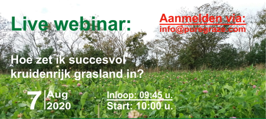 Webinar - Hoe zet ik succesvol kruidenrijk grasland in?
