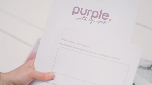 Template Zorgeloos Aanspreken Purple Leiderschapsontwikkeling