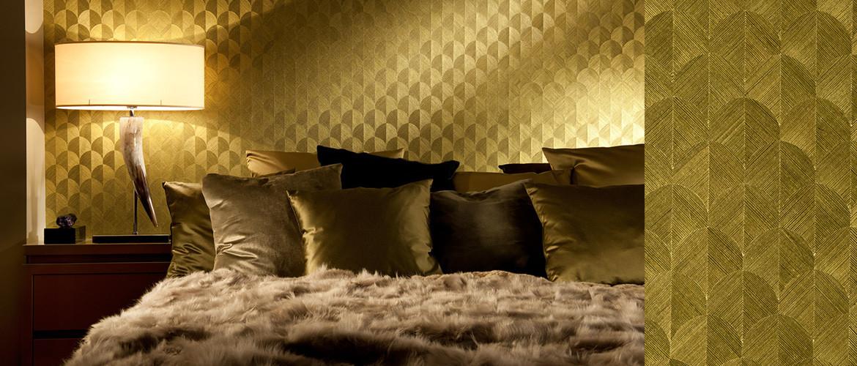 Behang in de slaapkamer