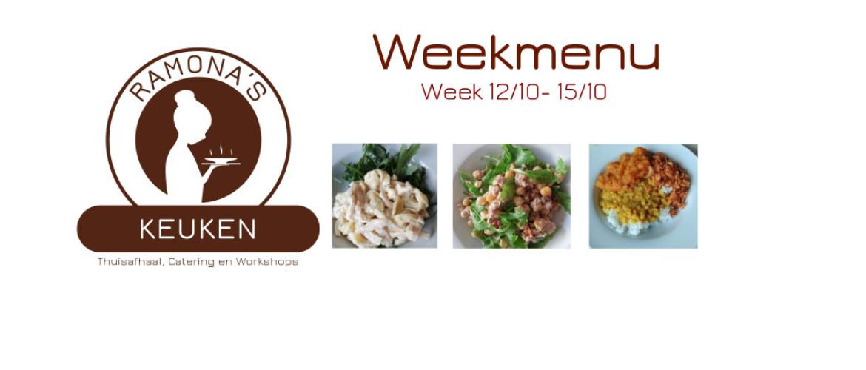 Weekmenu 26 - 29 oktober 2020