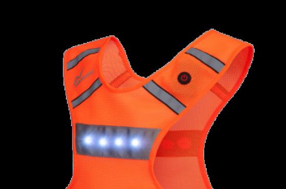 led vest hardlopen invincer reflectivesport oranje hardloopverlichting