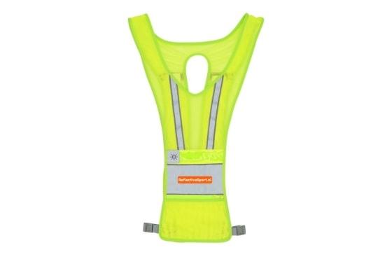 lichtgewicht reflectiveSport led vest hardloop verlichting met witte en rode verlichting en oplaadbare batterij