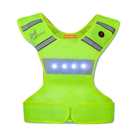 het one-size fits all reflectivesport led vest hardloopverlichting