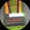 Witte verlichting voorop bij het ReflectiveSport Ultra Led Vest