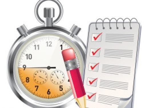 oefenen-plannen- klok met checklist