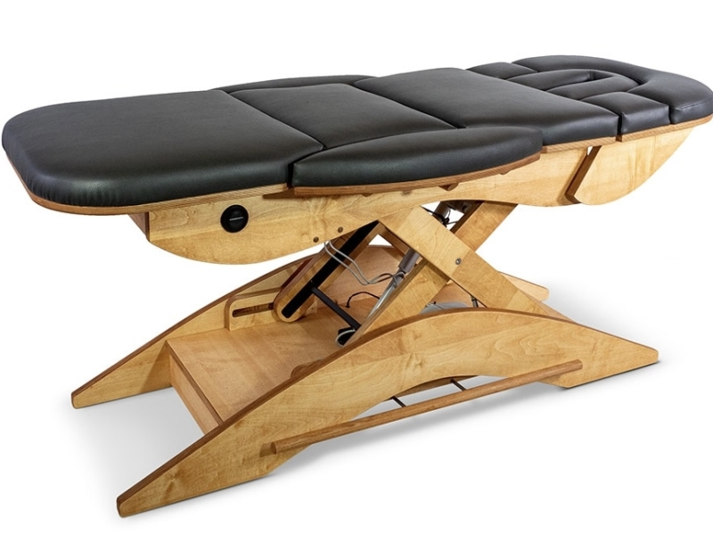 De Relax Sensation Massagetafel model Pro kan heel hoog