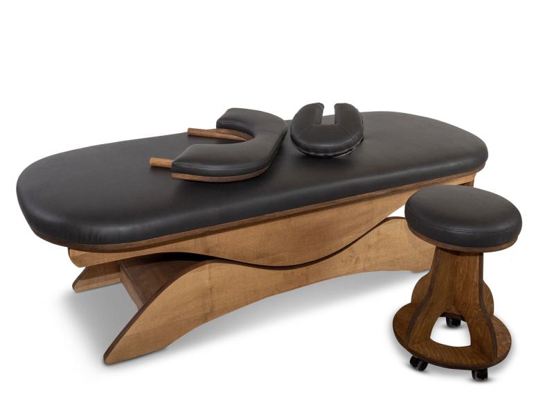 Simplex Massagetafel met armleuning en kruk