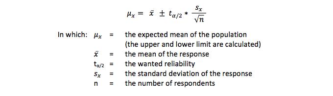 Confidence interval - mu