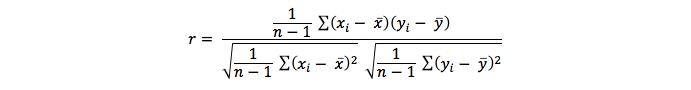 Correlation - formula 1