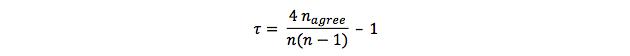 Alternative Formule of Kendall's tau