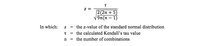 Testing Kendall's tau statistically