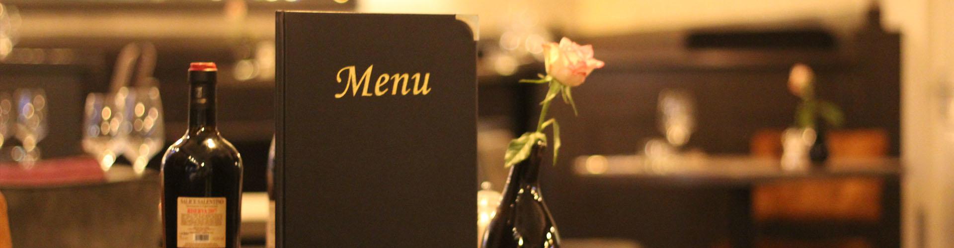 Restaurant Beleef Vught Menukaart Fles Wijn