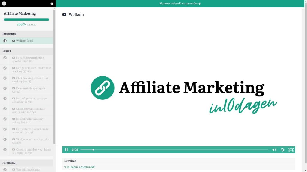 Affiliate Marketing in 10 dagen review - Introductie-min