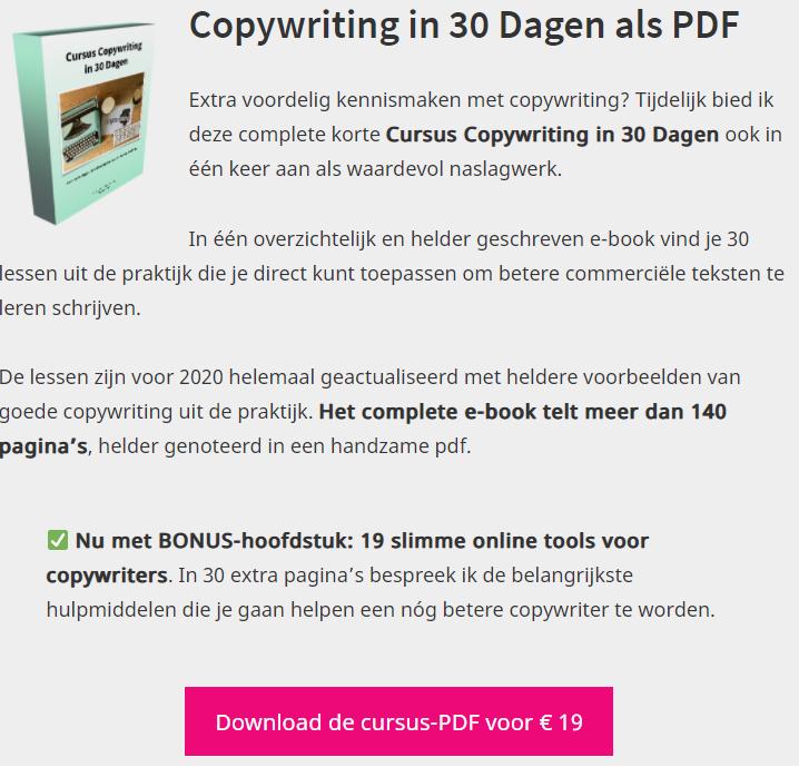 Doyoucopy review - Copywriting in 30 dagen als PDF
