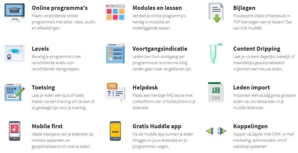 Huddle Software Review - inhoud