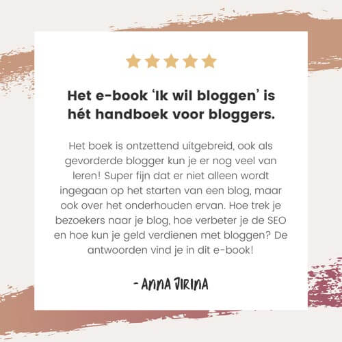 Ik wil bloggen review - Review 4