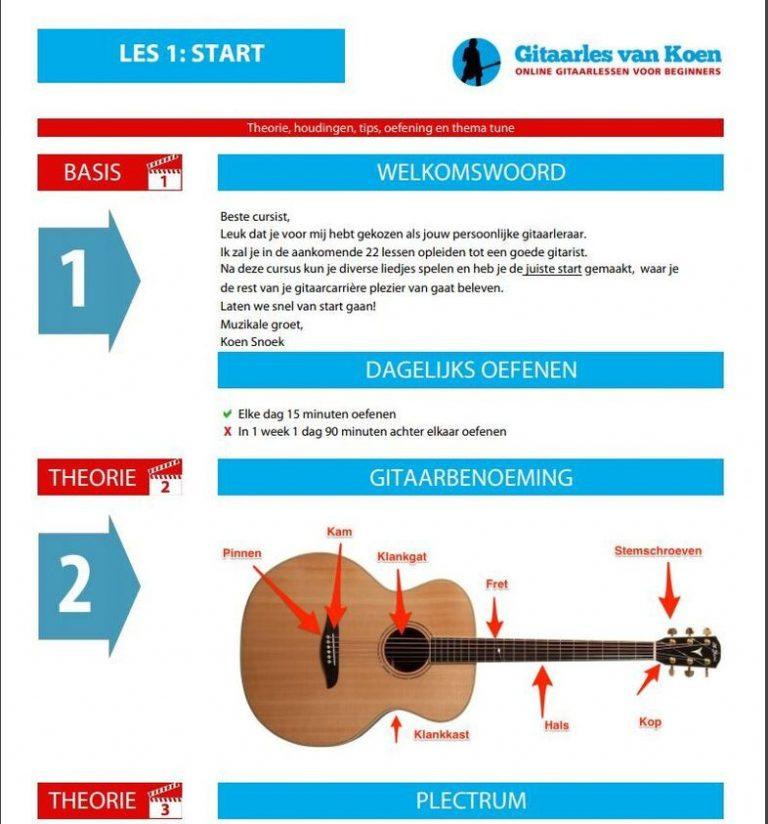 Leer gitaar spelen in 22 lessen review - bijlage