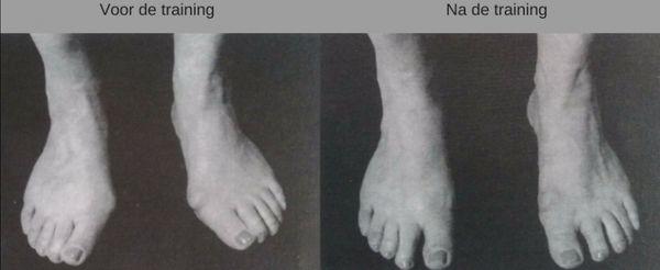 resultaat training voetentraining