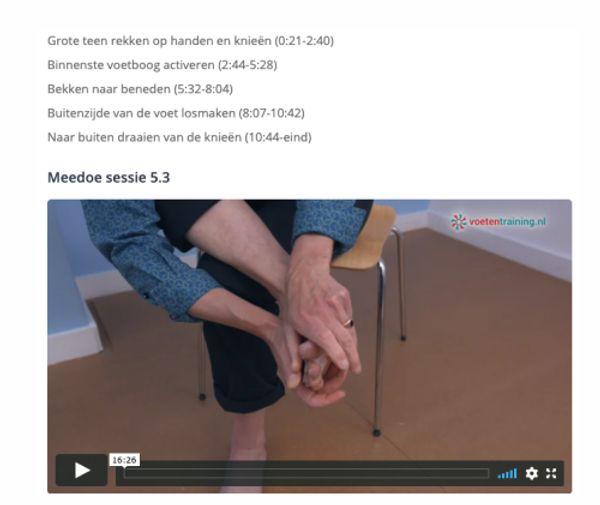 voorbeeld video Online Training Hallux valgus