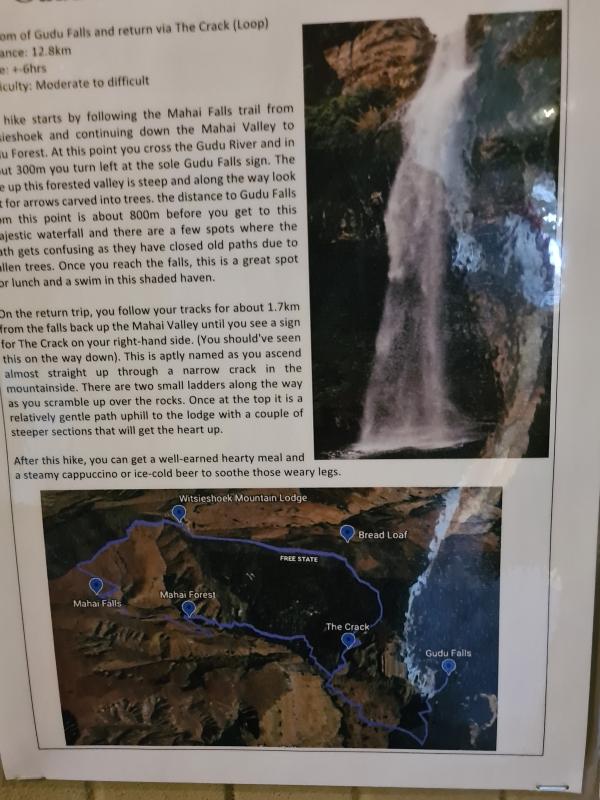 Gudu Falls trail
