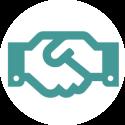 U kunt de contacten en eventuele onderhandelingen met Arbo -organisaties, verzekeraars, het UWV en andere partijen met een gerust hart aan ons overlaten.