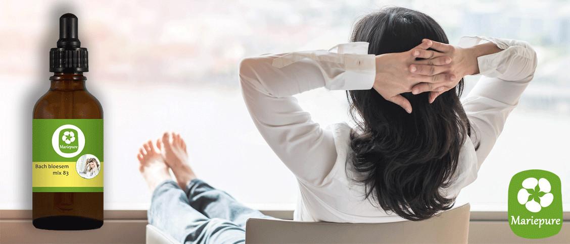 Bachbloesem bij stress en burnout
