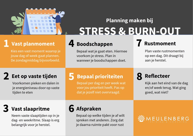Voorbeeld dagindeling burnout