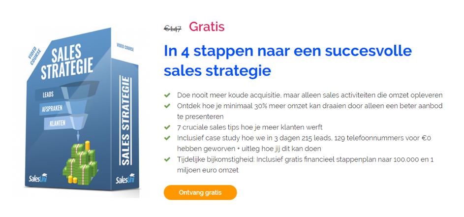 SalesPassie - Hoe je als coach en consultant continu leads en klanten krijgt