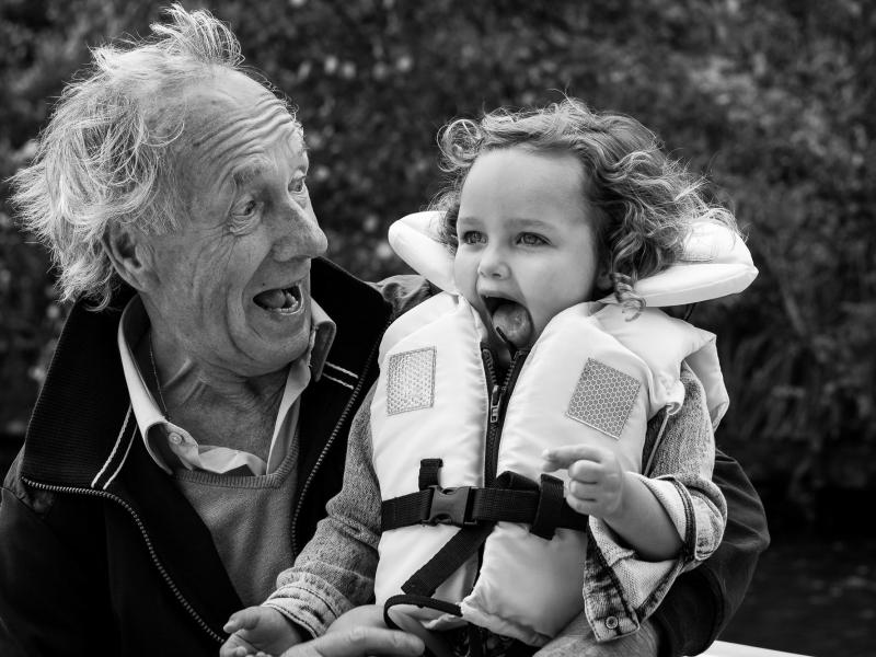 Spontane documentaire familiefoto's Delft