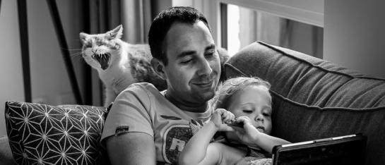 Day in the life fotograaf Delft, voor ongeposeerde spontane familiefoto's