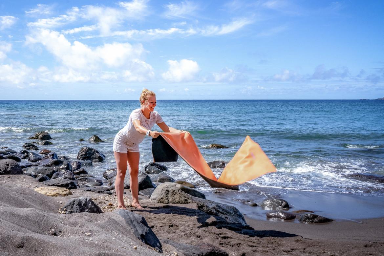 FLXBL yogamat als travel mat